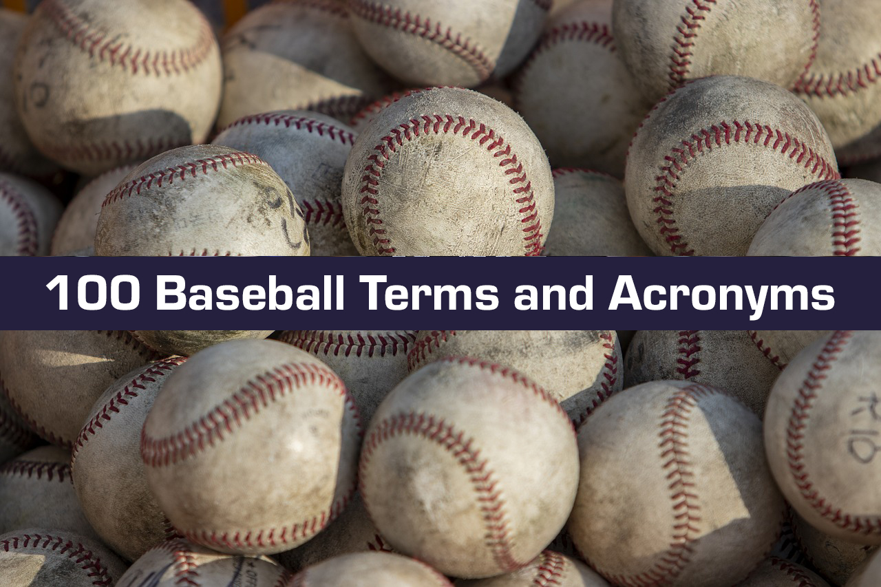 baseball terms and stat acronyms
